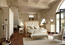Double bed / classic / with upholstered headboard / upholstered