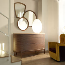 Wall-mounted mirror / contemporary / round / rectangular