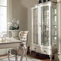 Classic china cabinet / glass / wooden