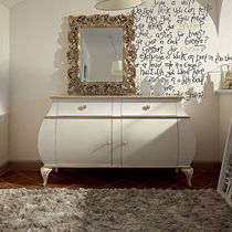 Classic sideboard / lacquered wood / white