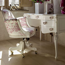 Classic office armchair / wooden / fabric / girl's