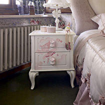 Classic bedside table / lacquered wood / girl's / white