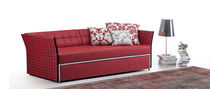 Contemporary sofa / leather / for public buildings / with trundle bed