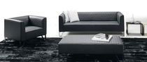 Contemporary sofa / leather / for public buildings / black