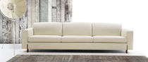 Modular sofa / contemporary / leather / for public buildings