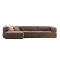 Contemporary sofa / leather / for public buildings / 2-seater