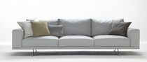 Contemporary sofa / leather / for public buildings / 3-seater
