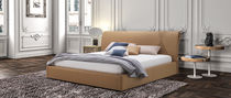 Double bed / contemporary / leather / for hotel rooms