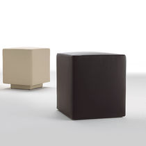 Contemporary pouf / leather / square / for public buildings
