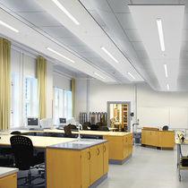 Hanging light fixture / LED / linear / aluminum