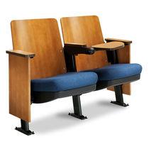 Contemporary auditorium seating / fabric / plywood / folding