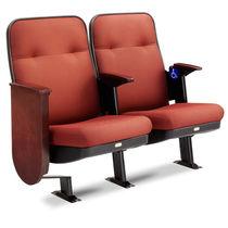 Contemporary auditorium seating / fabric / wooden / folding