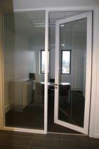 Interior door / swing / glass / for public buildings