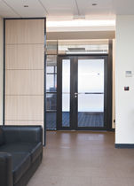 Swing door / glass / for public buildings