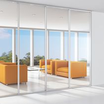 Removable partition / wooden / glazed / plasterboard