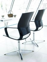 Visitor chair / contemporary / swivel / with armrests