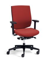 Contemporary office chair / mesh / on casters / with armrests