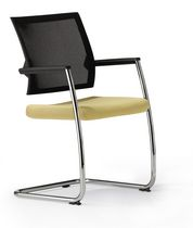 Visitor chair / contemporary / with armrests / mesh