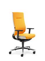 Contemporary office armchair / polyurethane / star base