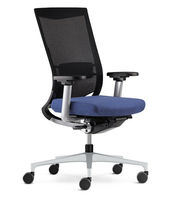 Office chair / contemporary / with armrests / mesh