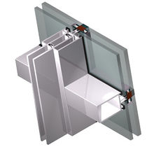 Structural glass curtain wall / aluminum and glass