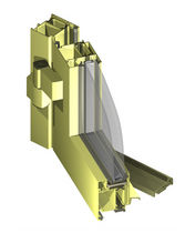 Aluminum door profile / thermal break