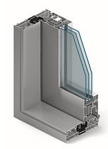 Aluminum door profile / thermally-insulated
