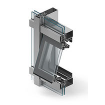 Pivoting window / aluminum / double-glazed