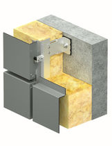 Aluminum ventilated facade