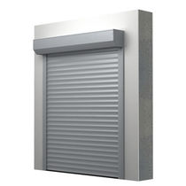 Roll-up industrial door / aluminum