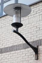 Contemporary wall light / outdoor / cast aluminum / HID