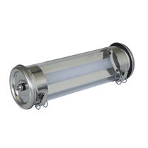 Surface mounted emergency light / linear / LED / polycarbonate