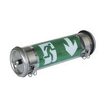 Surface mounted emergency light / tubular / LED / metal