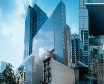 Panel curtain wall / metal and glass