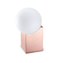 Table lamp / original design / crystal / steel