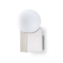 Original design wall light / glass / steel / LED