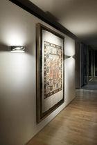 Contemporary wall light / glass / steel / halogen