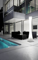 Contemporary light column / polycarbonate / LED / outdoor
