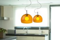 Pendant lamp / contemporary / steel / methacrylate