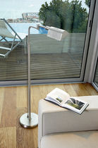 Floor-standing lamp / contemporary / brass / steel