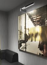 Contemporary wall picture light / brass / LED / linear