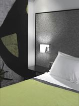 Contemporary wall light / fabric / steel / LED