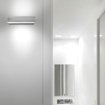 Wall-mounted emergency light / rectangular / compact fluorescent / LED
