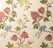Upholstery fabric / floral pattern / cotton / viscose