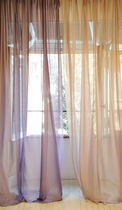 Plain sheer curtain fabric / polyester / silk