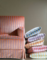 Upholstery fabric / striped / velvet / viscose