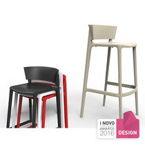 Bar stool / contemporary / polypropylene / commercial