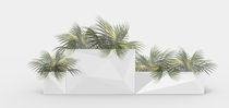 Polyethylene planter / rectangular / contemporary