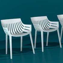 Contemporary chair / with armrests / stackable / polypropylene