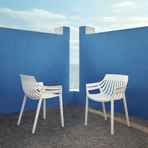 Contemporary garden chair / stackable / polypropylene / fiberglass